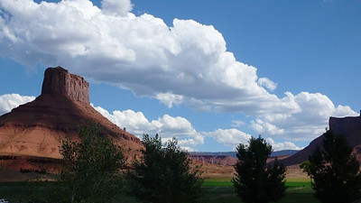 The view of Castle Valley from Sorrel River Ranch.