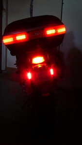 These LEDs are not as bright as the hyperlights, but are still as bright as the tail & brake lights. The real benefits come from the greater surface area that is illuminated and the height o ...